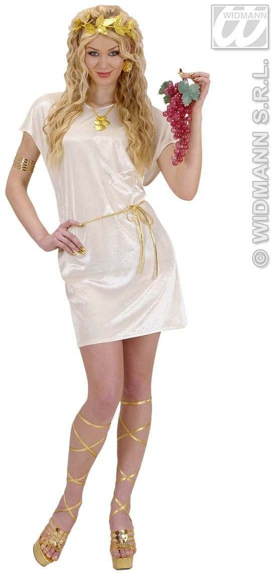 Beige Tunic Fancy Dress Costume Mens (Roman)