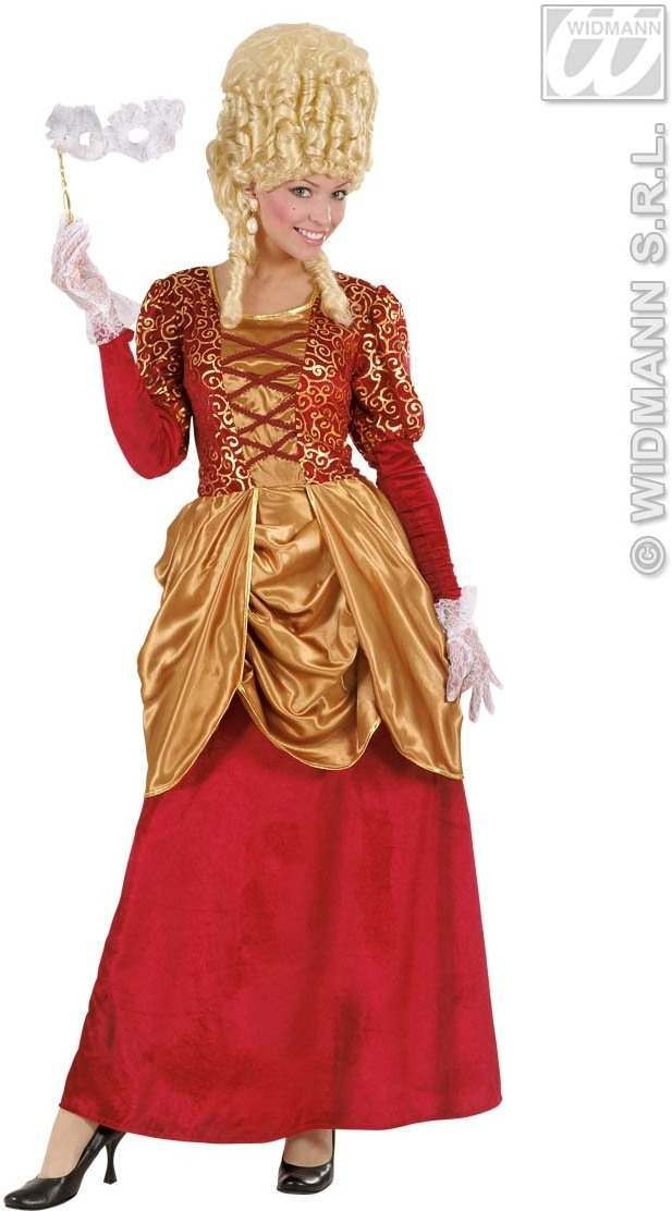 Bordeaux Marquise Dress Fancy Dress Costume Ladies (Renaissance)