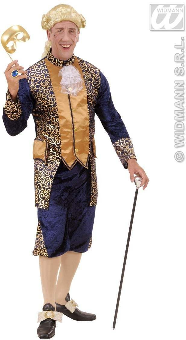 Blue Marquis Fancy Dress Costume Mens (Renaissance)