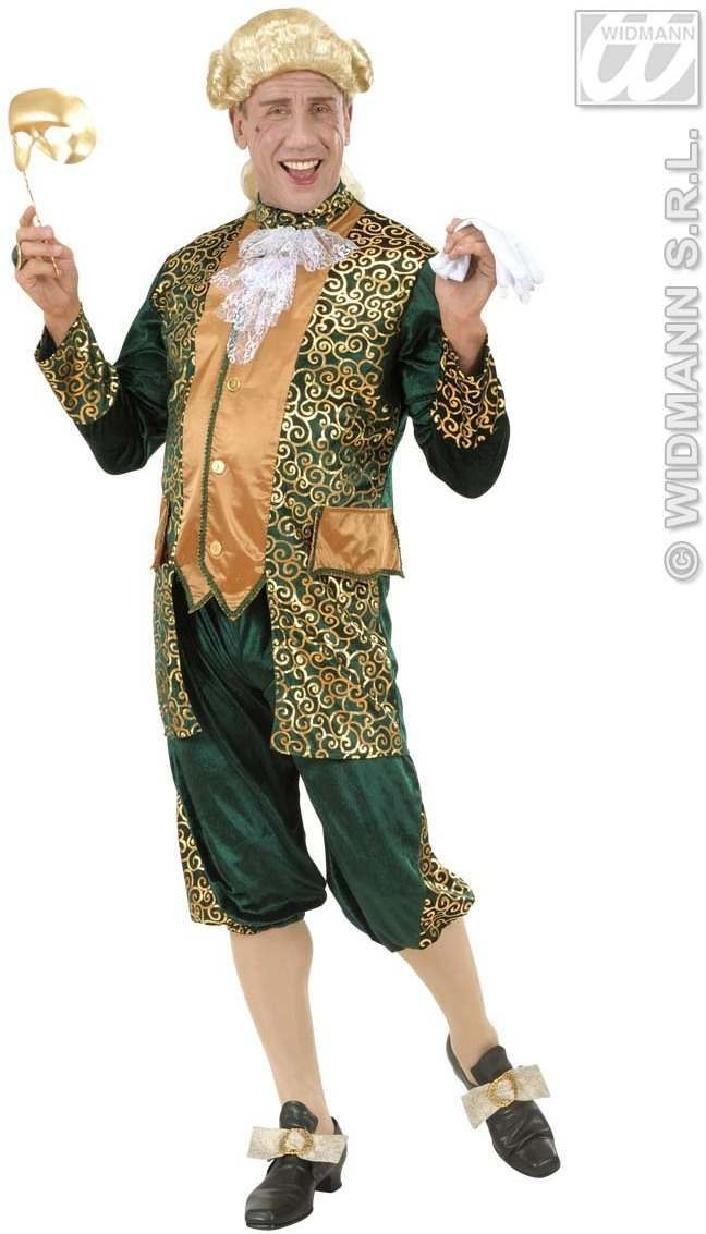 Green Marquis Fancy Dress Costume Mens (Renaissance)