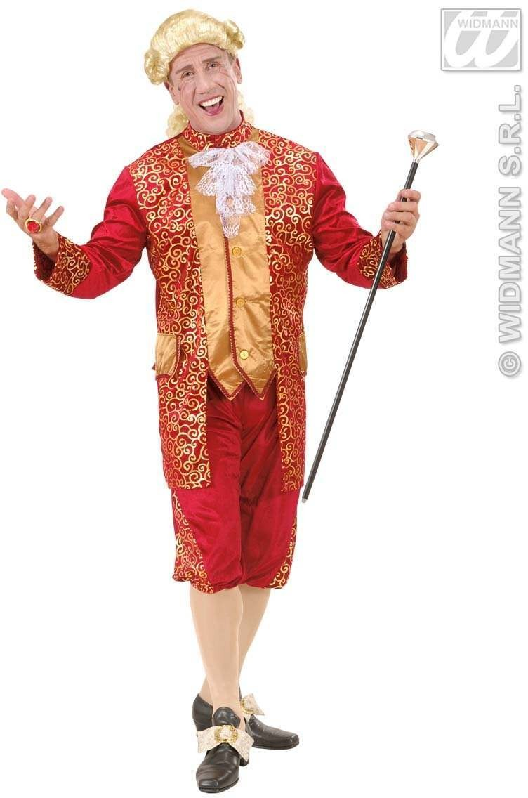 Bordeaux Marquis Fancy Dress Costume Mens (Renaissance)