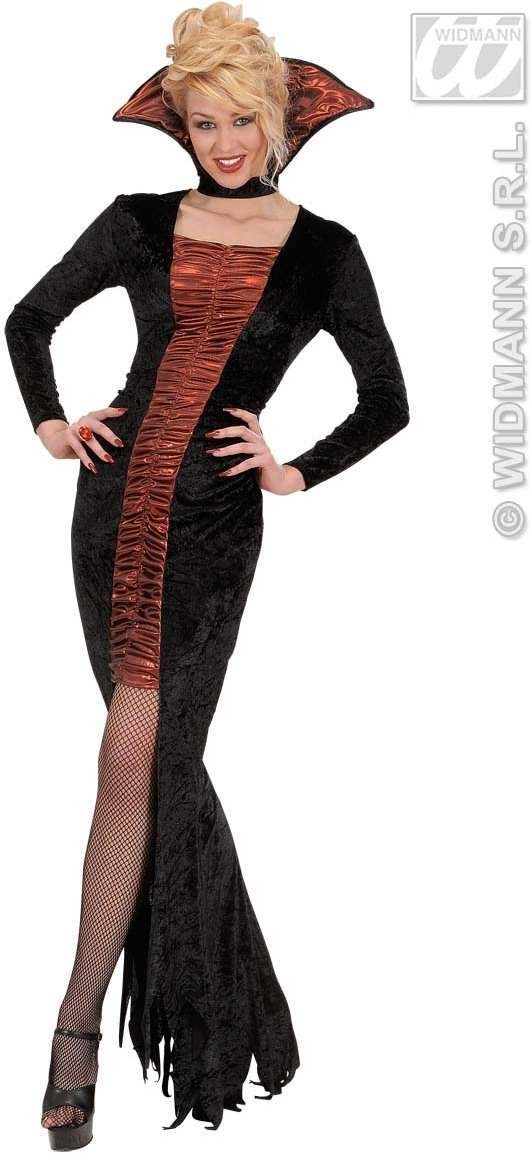 Elegant Vampira Fancy Dress Costume Ladies (Halloween)