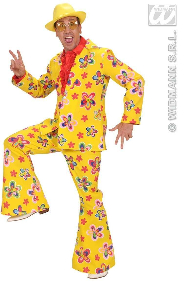 Qual.Fabric Man Size Flower Party Suits 2 Col Costume