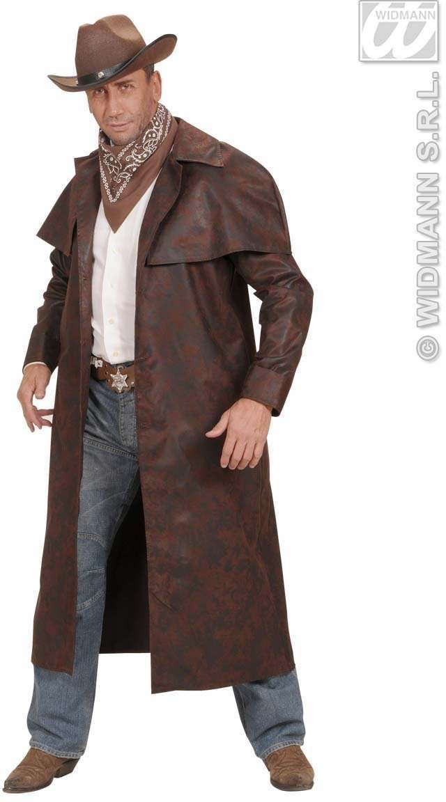 Brown Duster Coats Fancy Dress Costume Mens (Film)