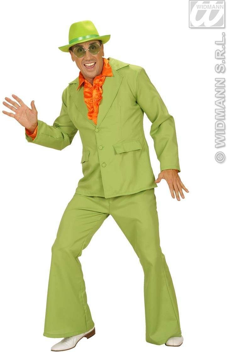 Man Size Green Neon Party Suits Fancy Dress Costume