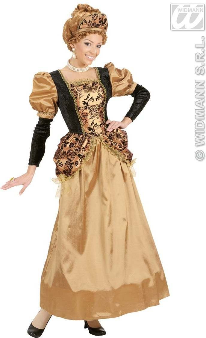 Medieval Queen Fancy Dress Costume Ladies (Royalty)