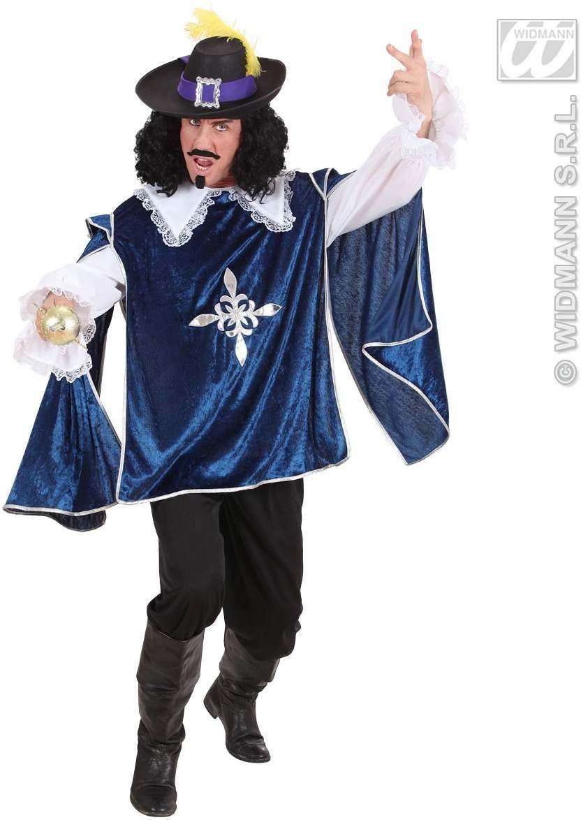 Blue Musketeer Fancy Dress Costume Mens (Musketeers)