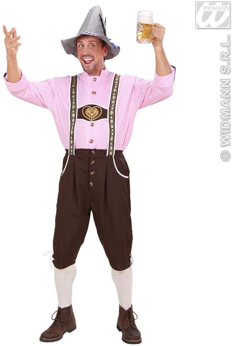 Heavy Fabric Bavarian Man Fancy Dress Costume Mens (Cultures)