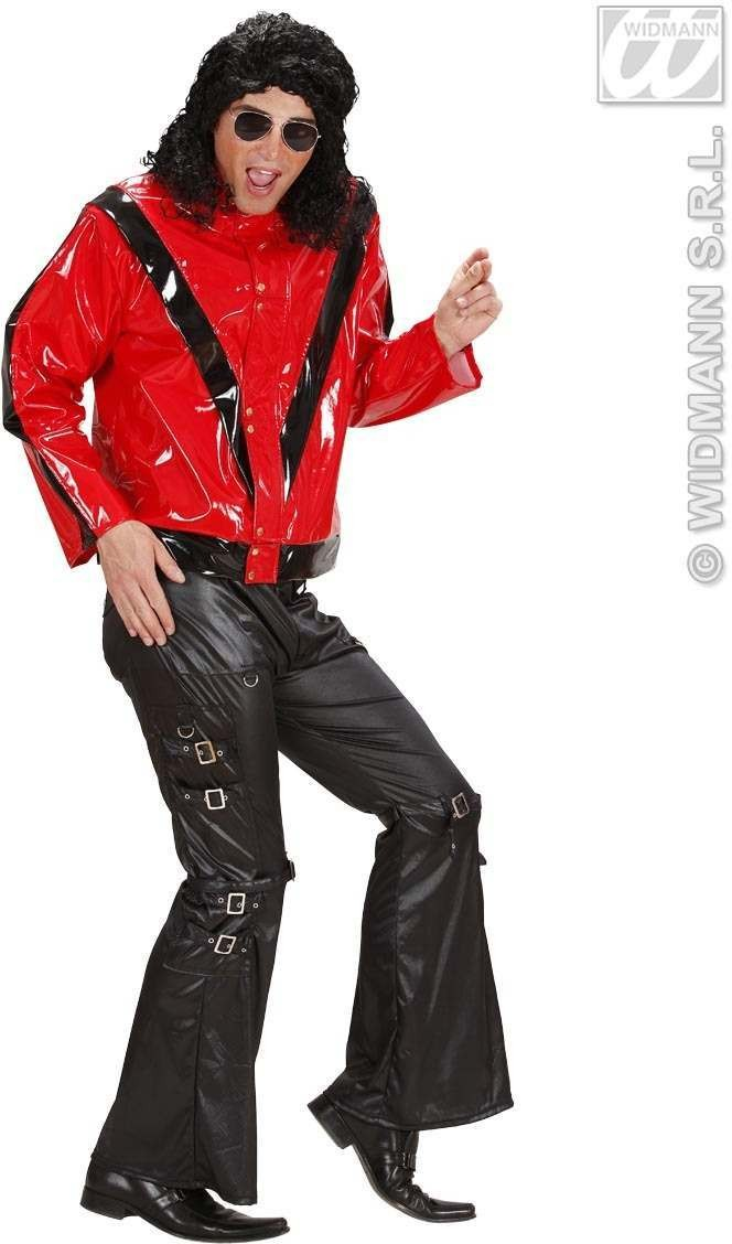 Vinyl Thriller Jacket Fancy Dress Costume Mens (Music)