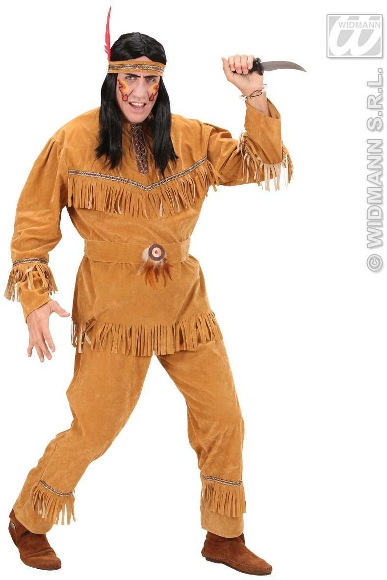 Suedelook Indian Man Fancy Dress Costume Mens (Cowboys/Indians)