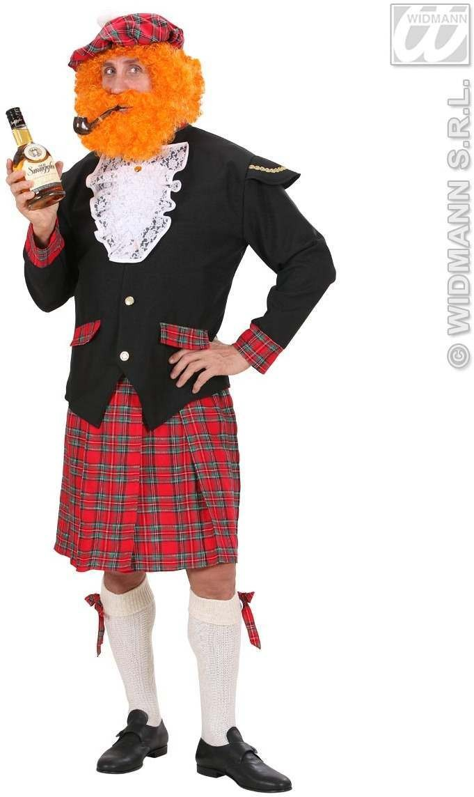Heavy Fabric Scotsman Fancy Dress Costume Mens (Cultures)