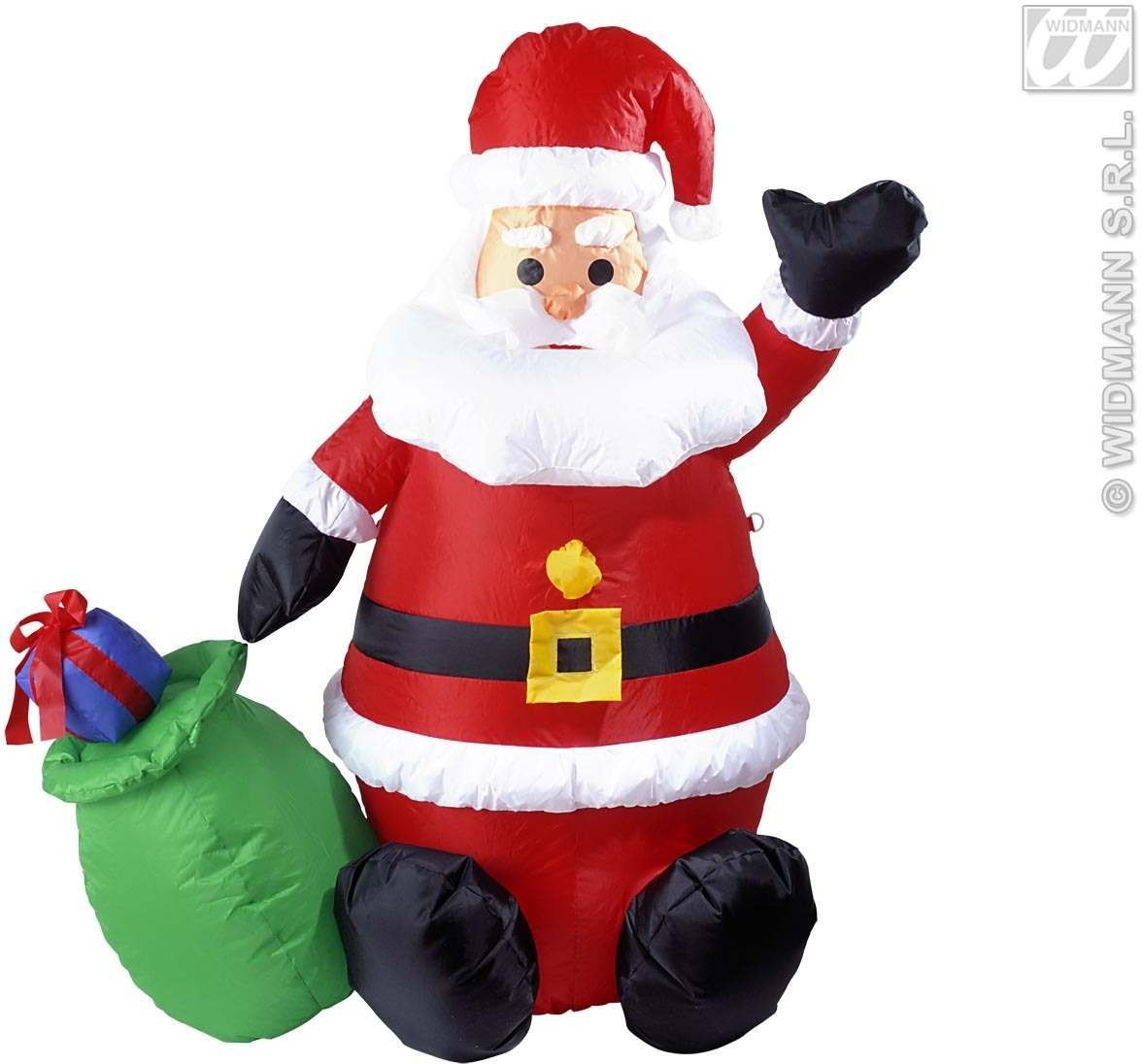 Inflatable light up santa claus cm fancy dress christmas