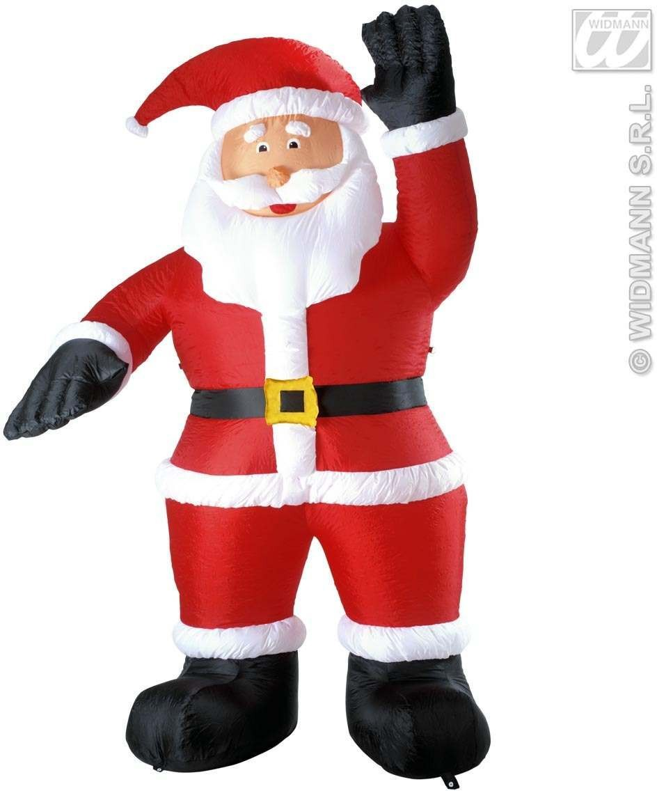 Inflatable lightup santa claus cm indoor fancy dress