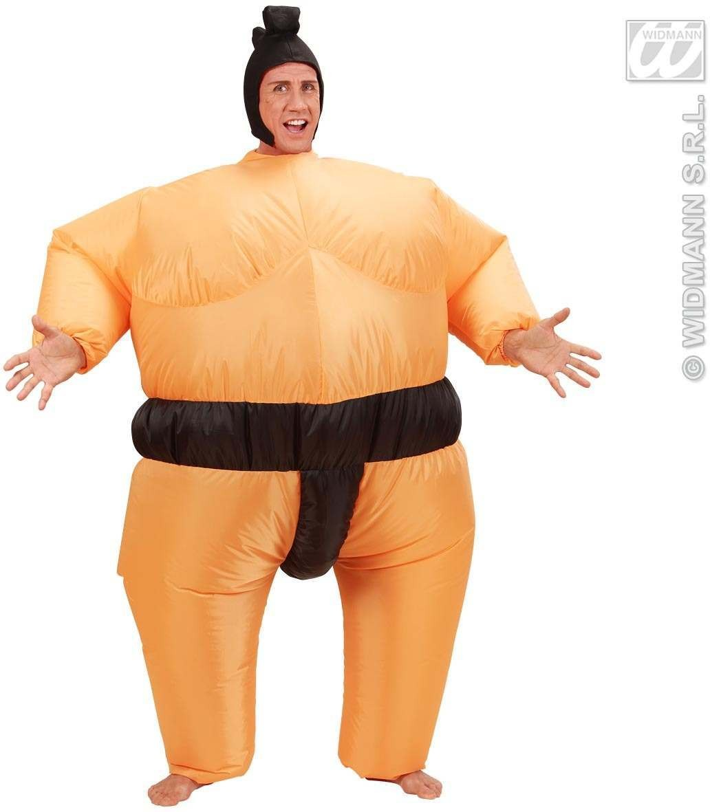 Inflatable Sumo Costume Head, Fancy Dress