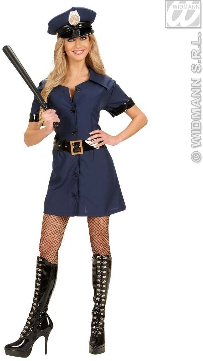 Police Girl Fancy Dress Costume Ladies (Cops/Robbers)