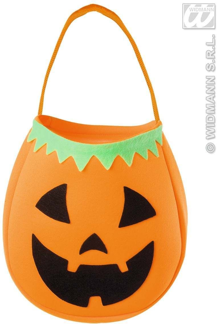 Pumpkin Trick Or Treat Handbag Fancy Dress (Halloween)