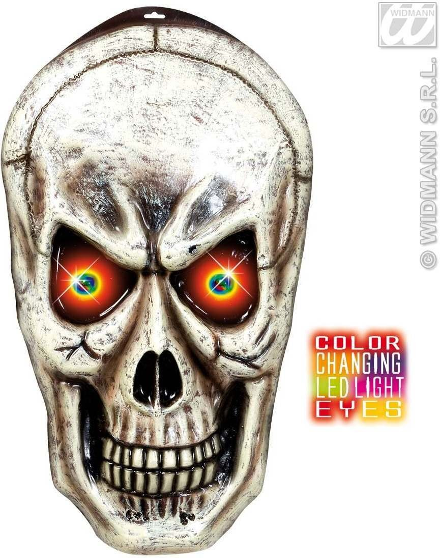 Skulls W/Blinking Colour Changing Eyes - Fancy Dress (Halloween)