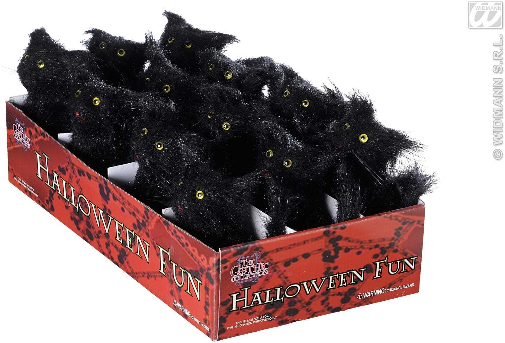 Single Furry Black Cat 12Cm Approx - Fancy Dress (Halloween)