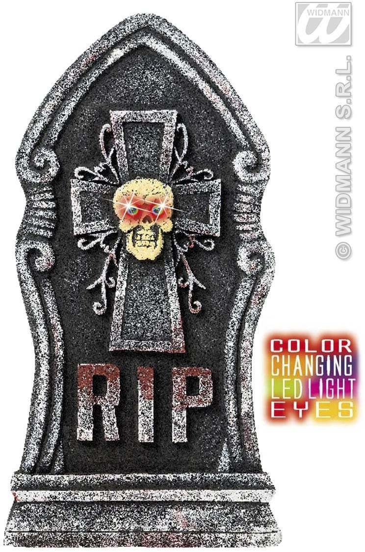 Tombstones Colour Changing Light Eyes Skull Fancy Dress (Halloween)