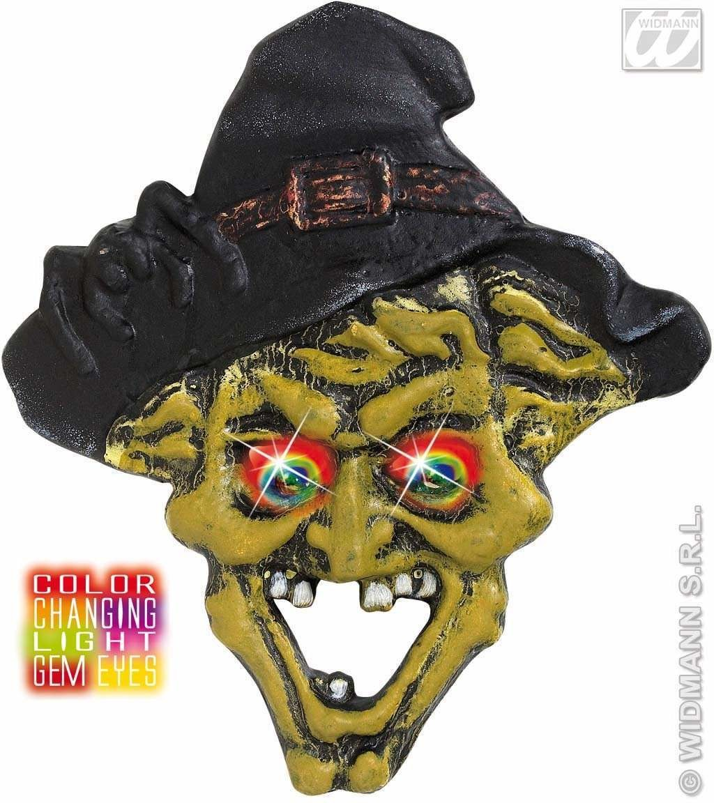 Witch Heads Changing Light Eyes 35X40Cm Fancy Dress (Halloween)