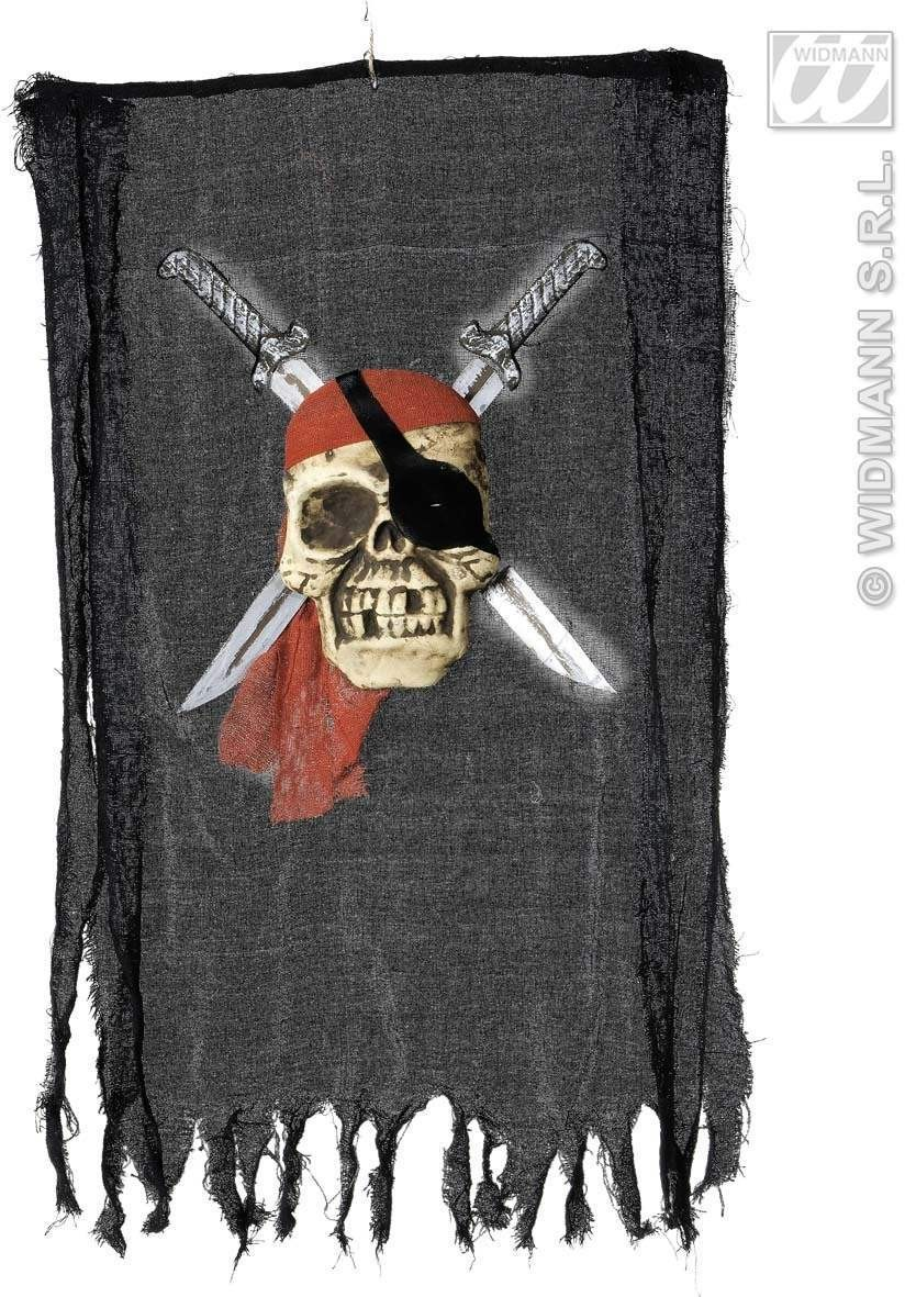 Pirate Skull Banners 51X90 - Fancy Dress (Pirates)