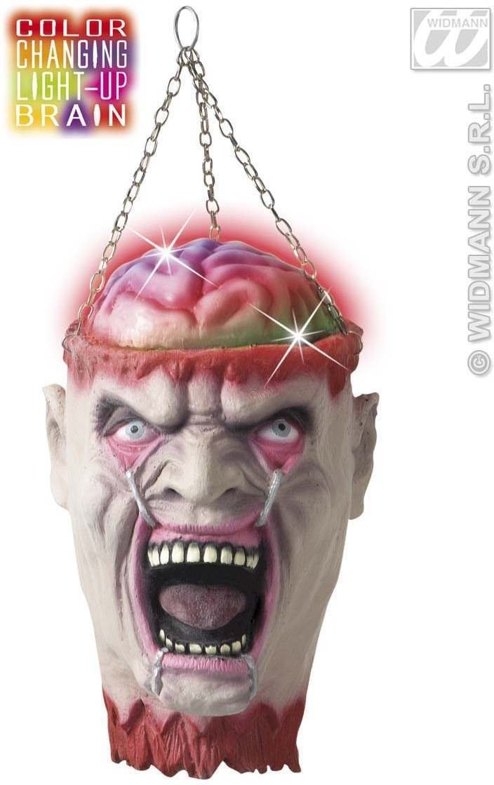 Severed Heads Color Changing Brain 27Cm - Fancy Dress (Halloween)