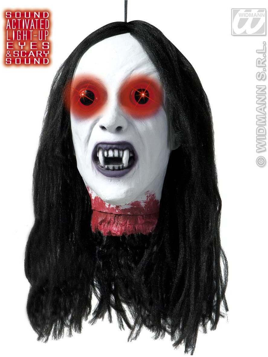 Severed Vampire Heads Light Up Eyes 26Cm - Fancy Dress (Halloween)