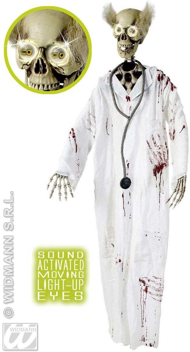 Bloody Doctor Skeletons W/Moving Eyes 153Cm Fancy Dress (Doctors/Nurses)
