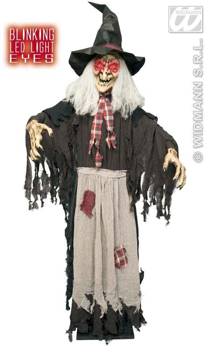 Witch With Blinking Led Eyes 153Cm - Fancy Dress (Halloween)