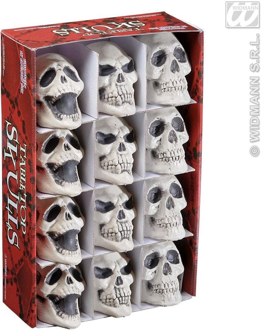 Skulls 3 Styles Ass. - 12Cm - Fancy Dress (Halloween)