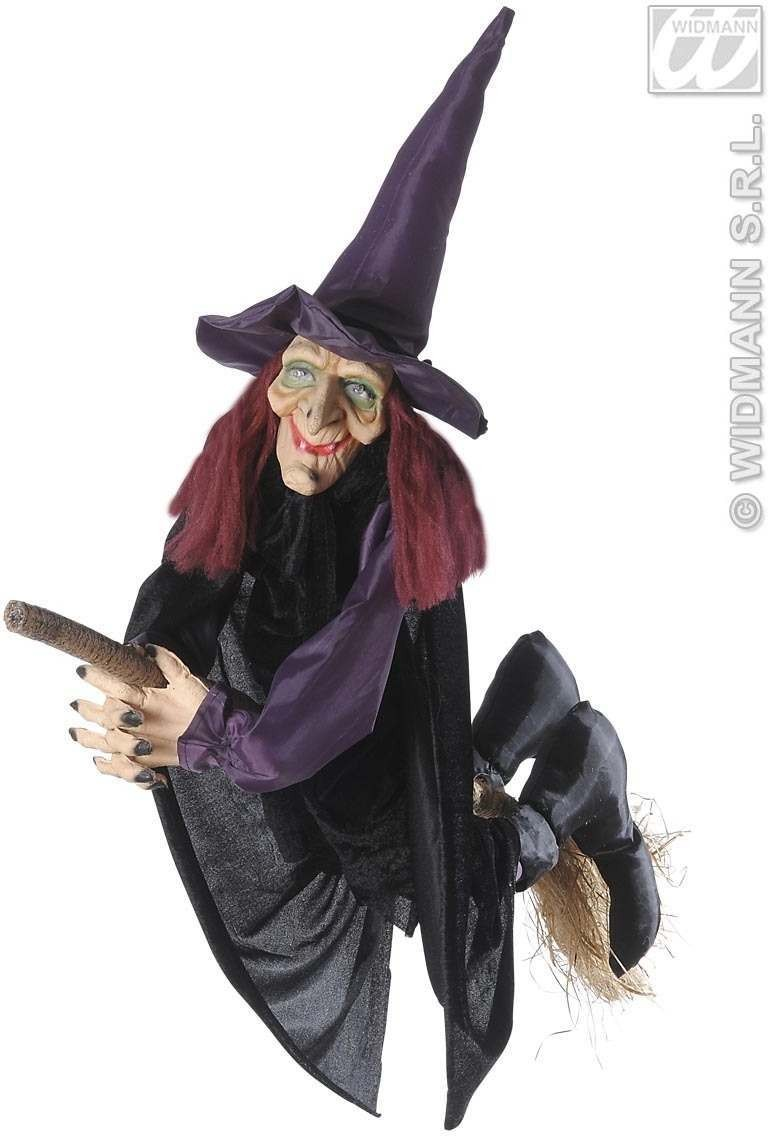 Talking Witches On Broom, Light Up Eyes 100 Fancy Dress (Halloween)