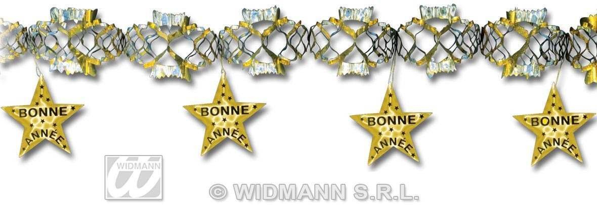 Holographic Gold Bonne Annee' Garlands-3 M Fancy Dress
