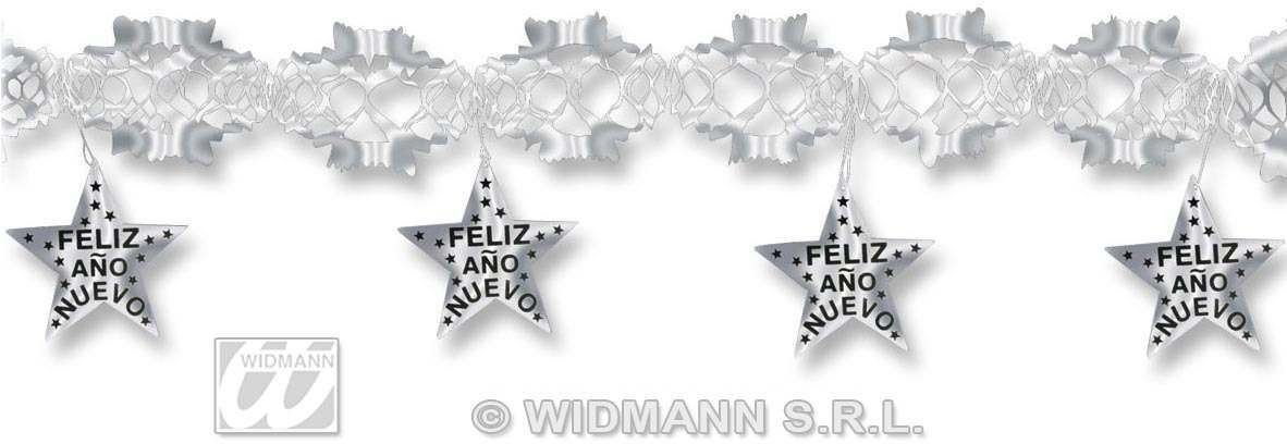 Holograp.Silver Feliz Ano Nuevo Garlands Fancy Dress