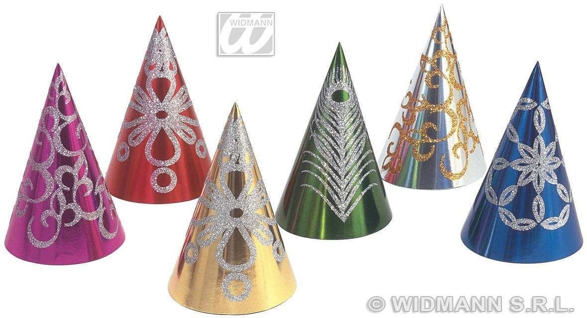 Cone Hats Glitter Decorated - Fancy Dress