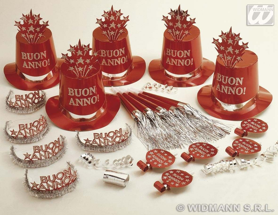 Red Buon Anno Party Kit For 10 People Fancy Dress