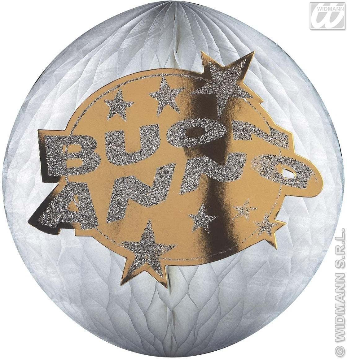 Hologr.Buon Anno Honeycomb Paperballs-25Cm Fancy Dress