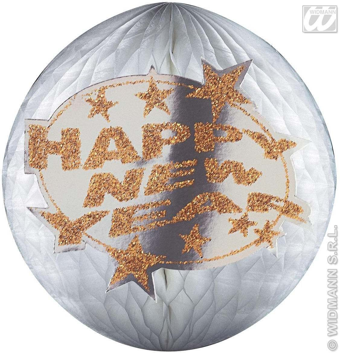 Hologr.Happy New Year Paperballs-25Cm Fancy Dress