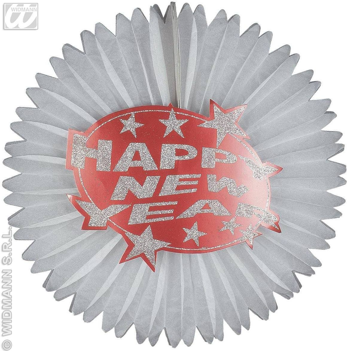 Holograph.Red Happy New Year Paper Fans Fancy Dress