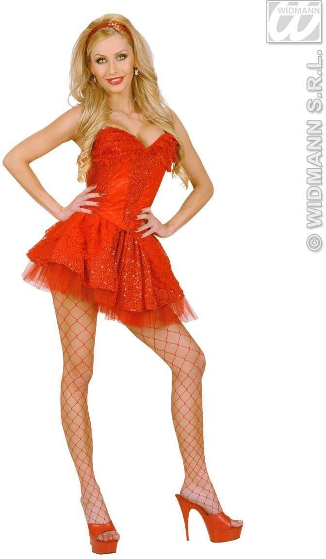 Red Sequin & Lace Corsets - Fancy Dress