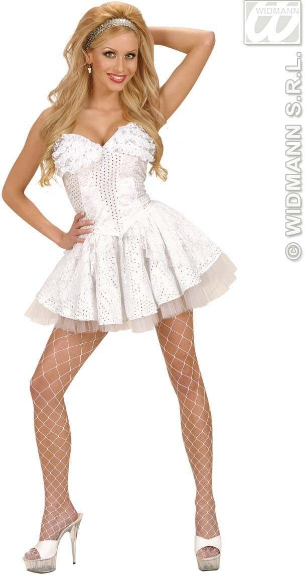 Xl Size White Sequin & Lace Corsets - Fancy Dress