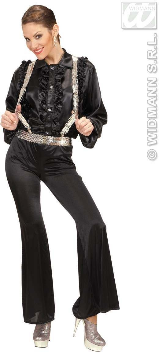 Braces - Silver Sequin - Fancy Dress