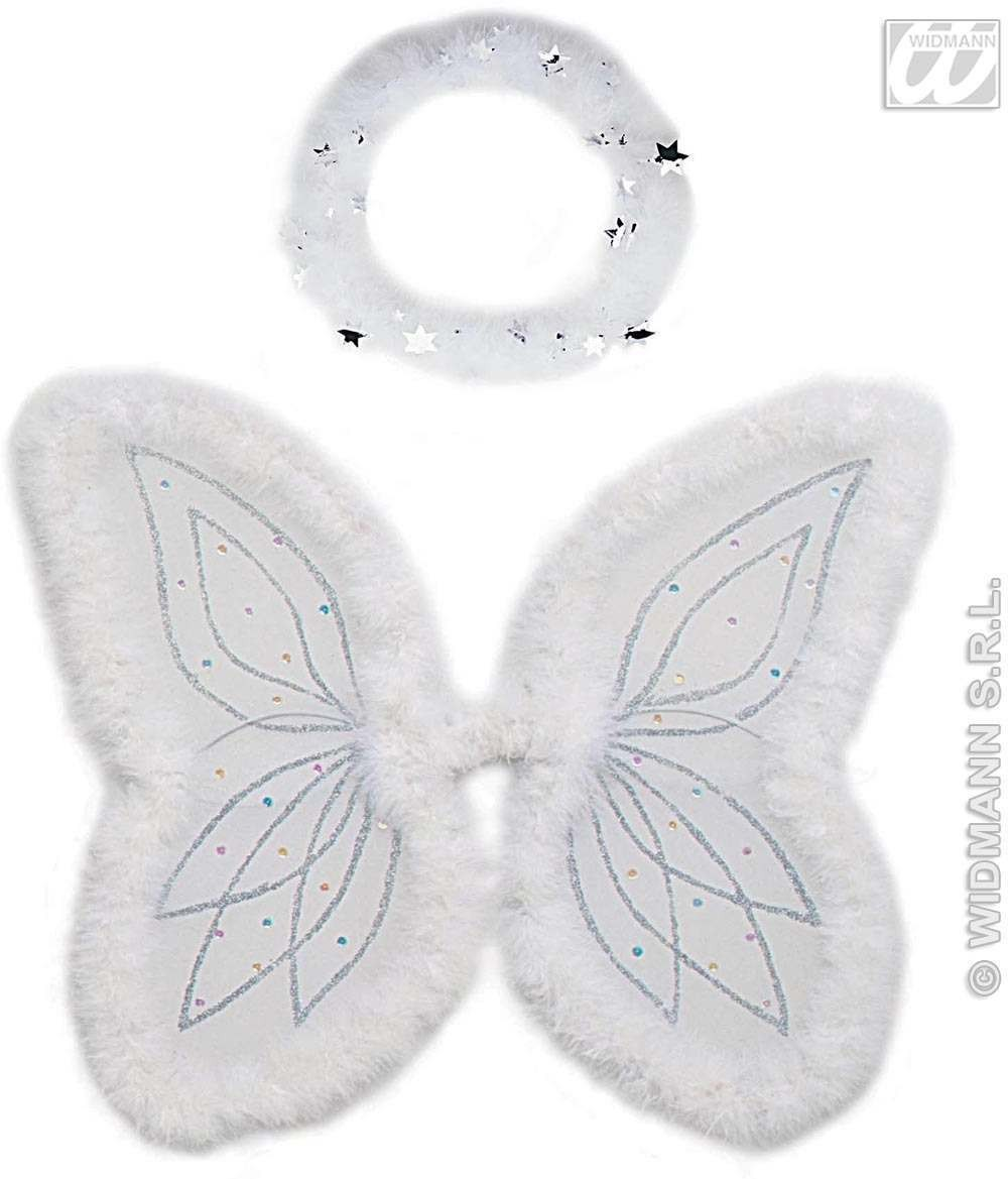 Angel Set One Size Halo / Wings Fancy Dress Costume (Christmas)