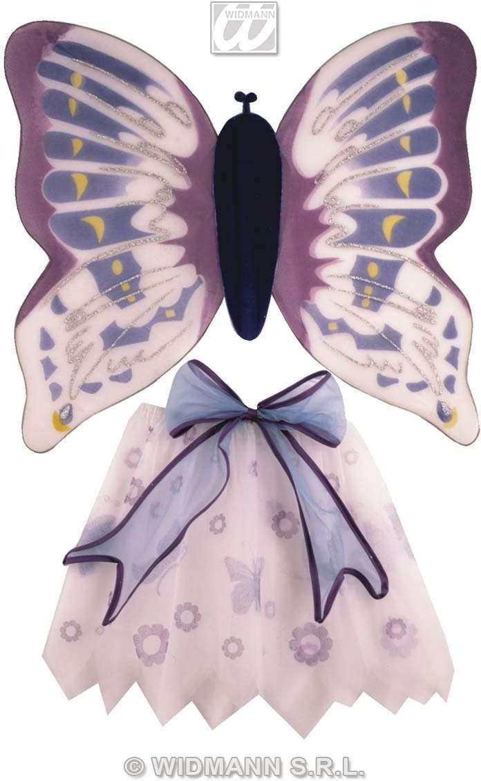 Butterfly Set Child Wings And Skirt Fancy Dress Costume