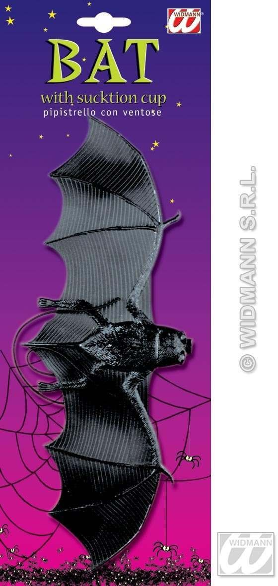 Bats W/Suction Cup On Elastic - Fancy Dress (Halloween)