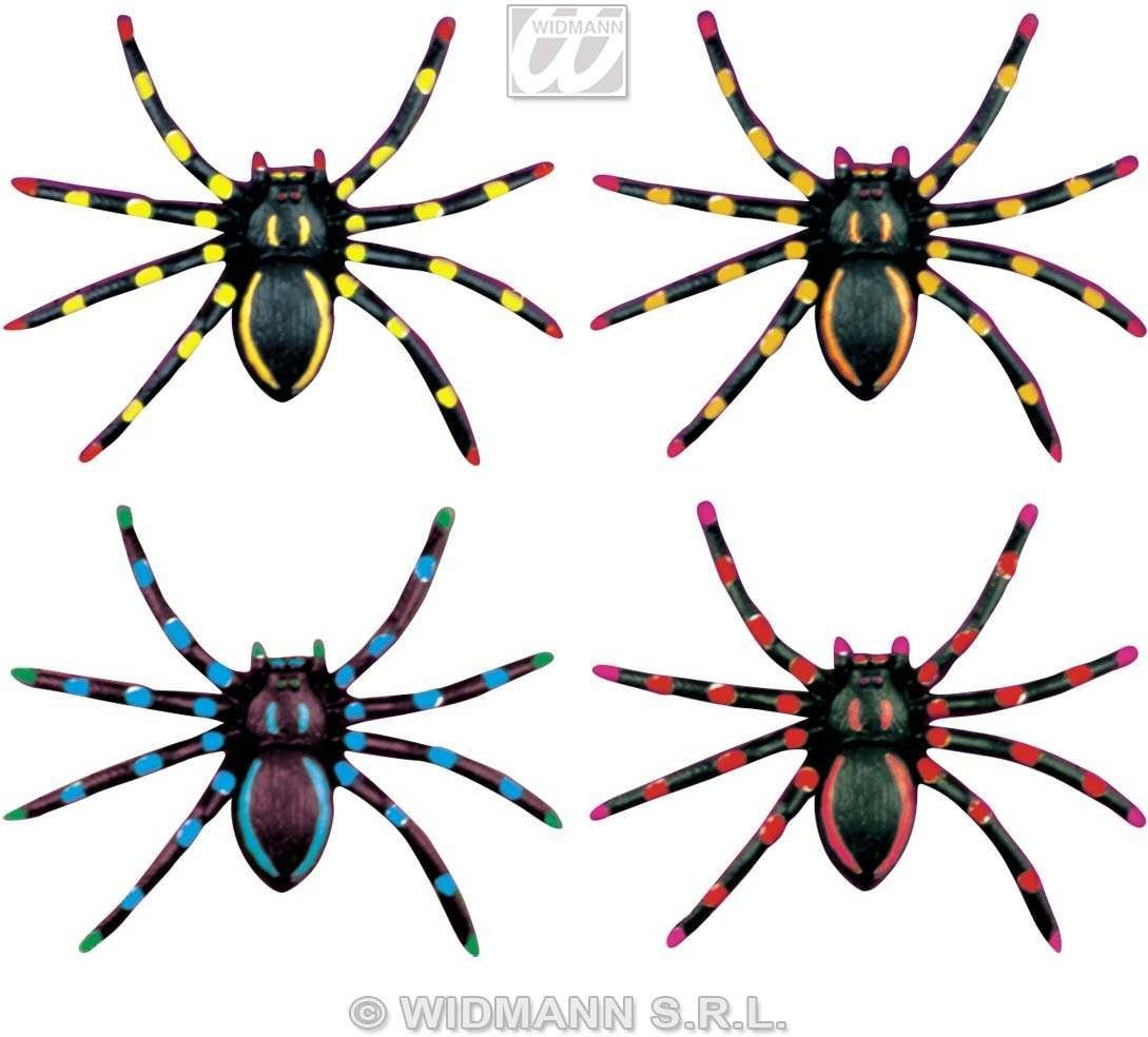 Neon Spiders Colour Ast - Fancy Dress (Halloween)
