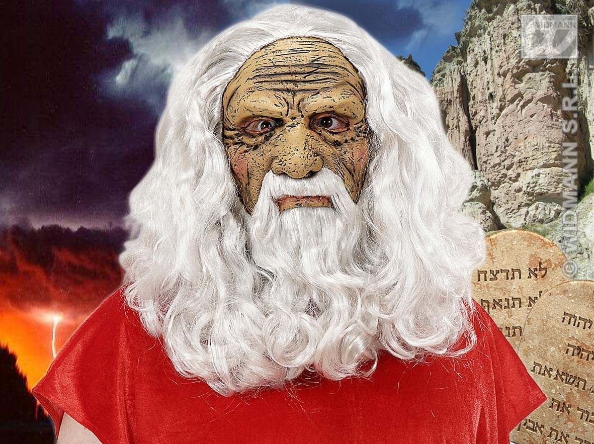 Moses Masks W/Wig Beard And Moustache - Fancy Dress (Animals)