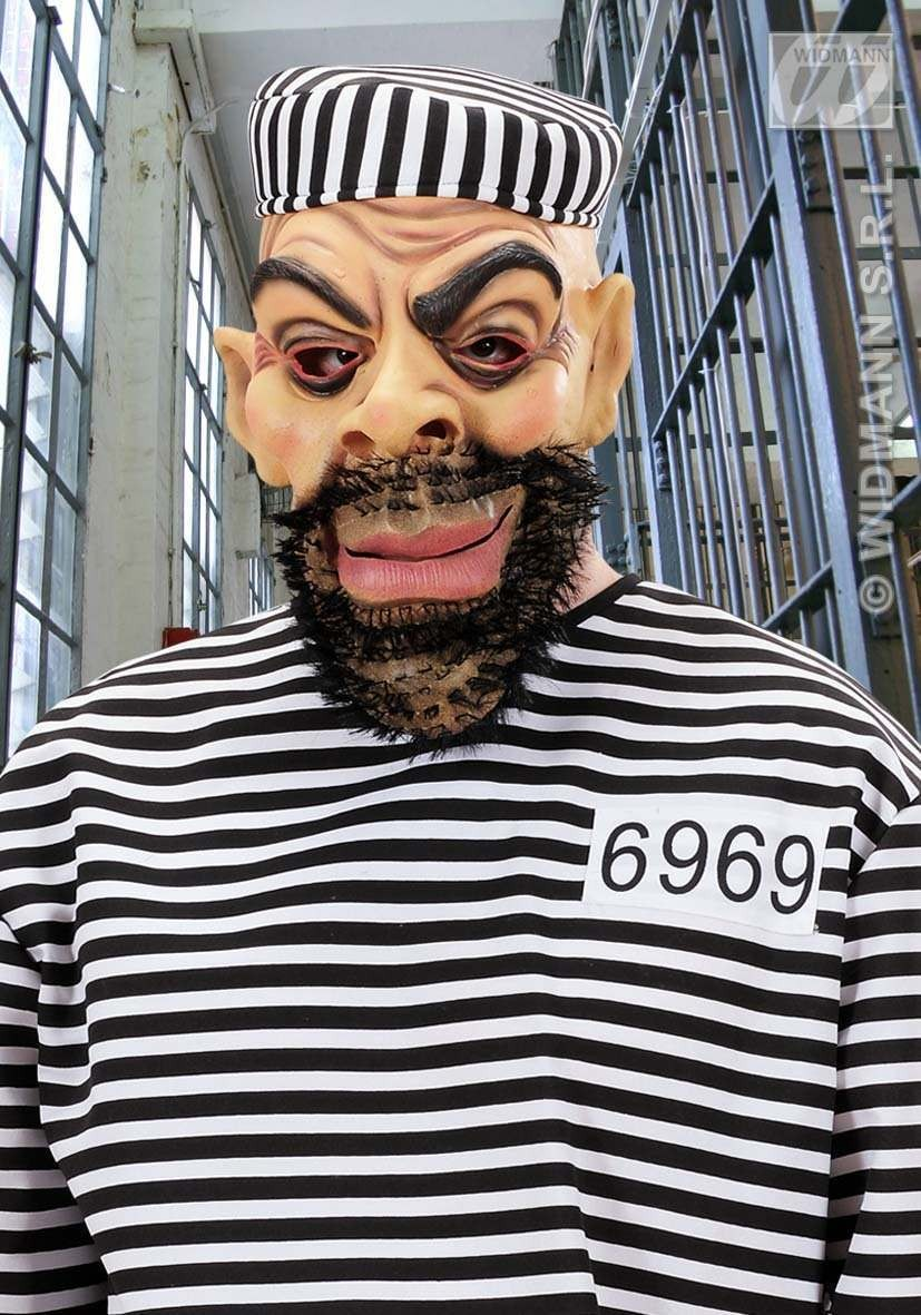 Bearded Character Masks - Fancy Dress (Convict)