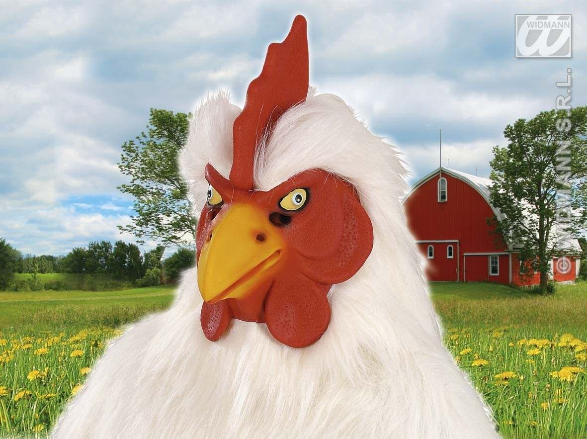 Plush Chicken Masks - Fancy Dress (Animals)