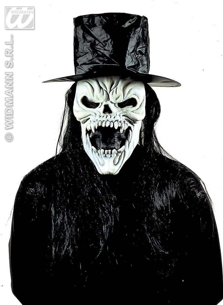 Mr Skull Mask Gid With Hat And Hair - Fancy Dress