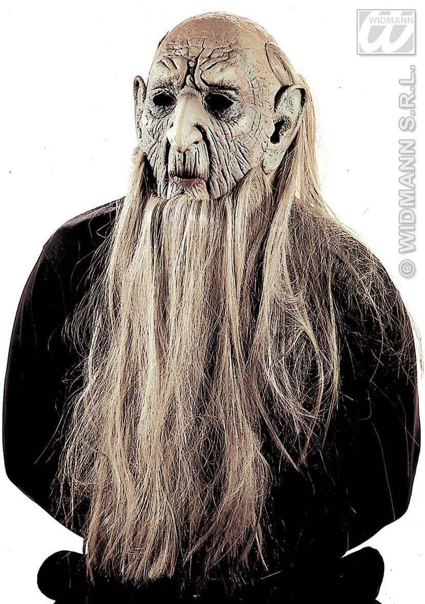 Millenarian Man Mask With Hair - Fancy Dress